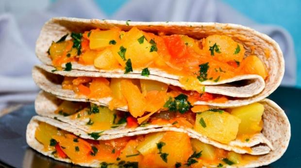 Tortilla so zeleninou