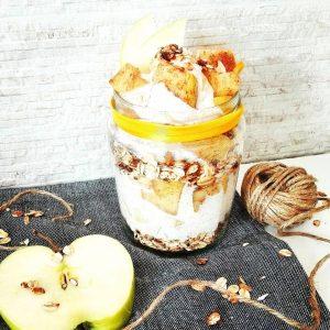 jablkovo-škoricový jogurt