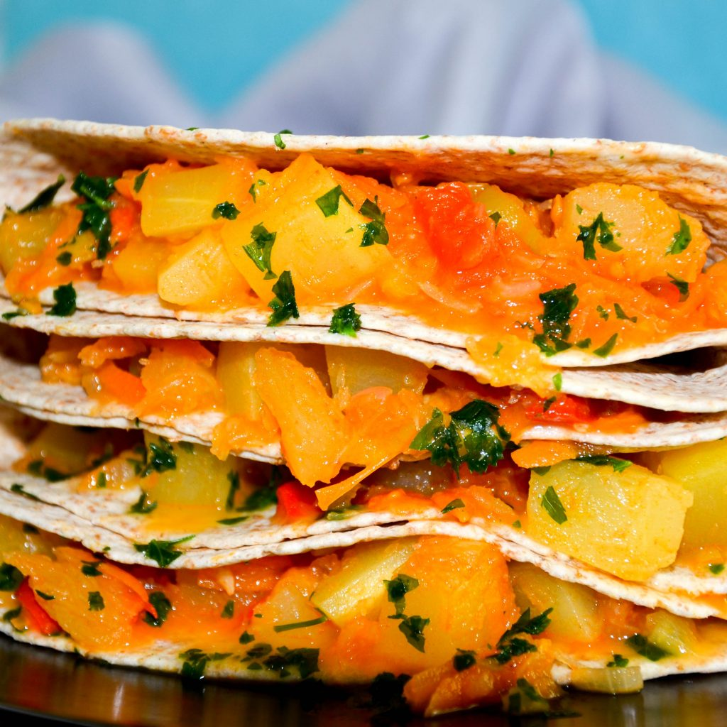 Celozrnná tortilla so zeleninou