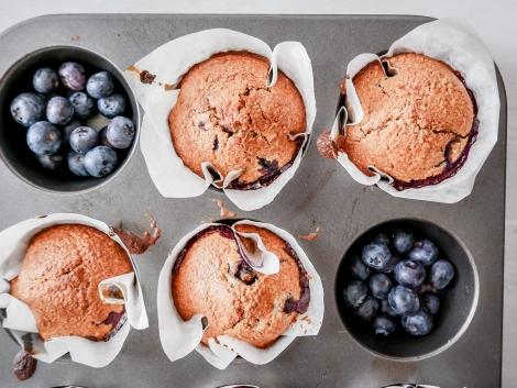 Ovsené muffiny s čučoriedkami